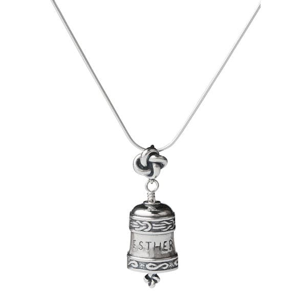 Personalized sterling silver bell necklace at acorn hr