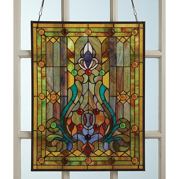 Victorian Style Stained Gl Window Panel