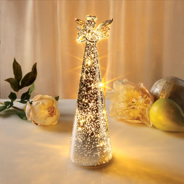 Lighted Mercury Glass Angel 38 Reviews 4 79 Stars
