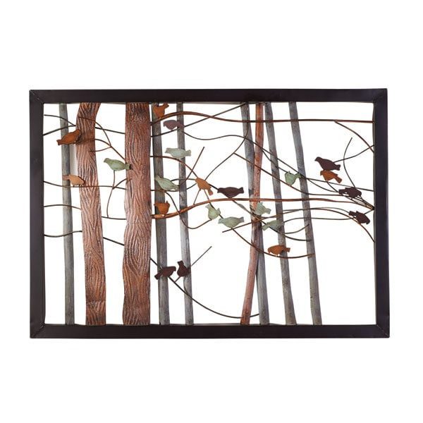 Woodland Birds Metal Wall Art Acorn Hu8582