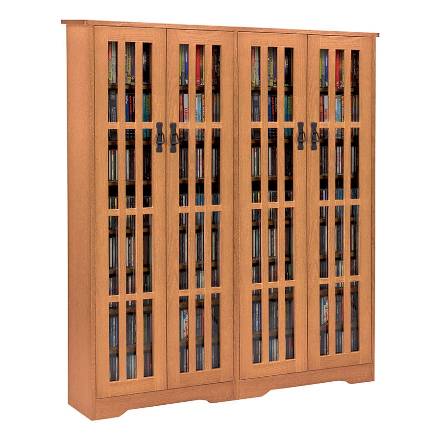 Mission Style Kitchen Cabinet Doors: Mission Style Media Storage Cabinet: 4-Door At Acorn