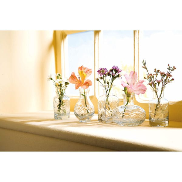 Petite Glass Vases Set Clear Glass Set Acorn Pt2104