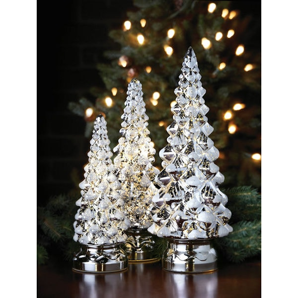 Twinkling Mercury Glass Christmas Trees 3 Reviews 5 Stars