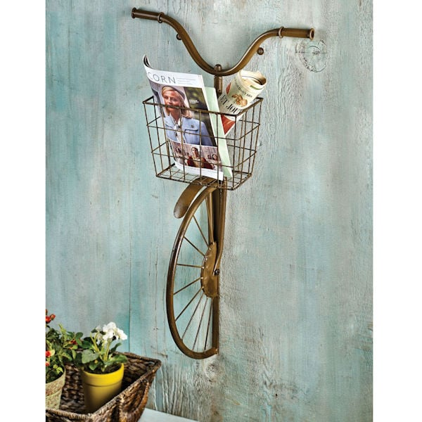Iron bicycle wall d cor at acorn xa8062 for Bicycle decorations home