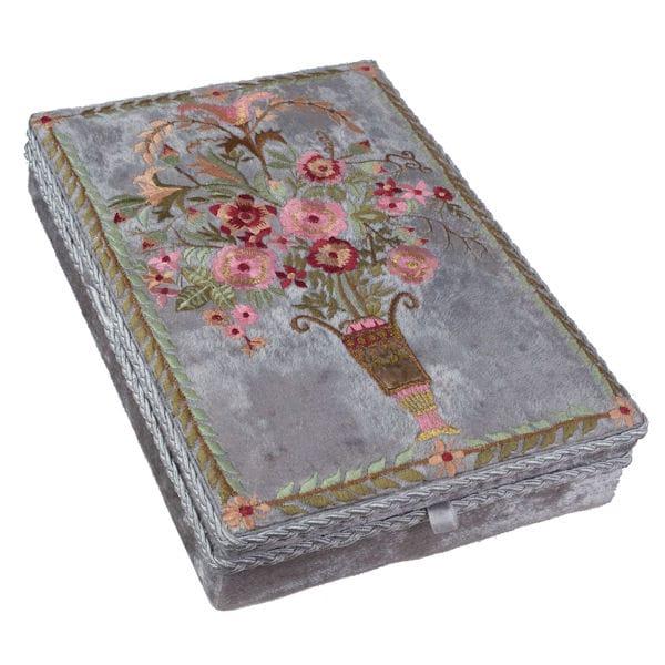 Embroidered Velvet Jewelry Box at Acorn XB8792