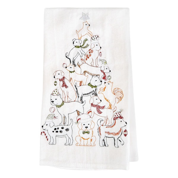 Holiday Tree Towels 2 Dog Towels
