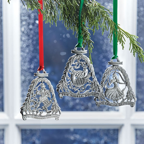 12 days of christmas ornaments set - Teal Christmas Ornaments