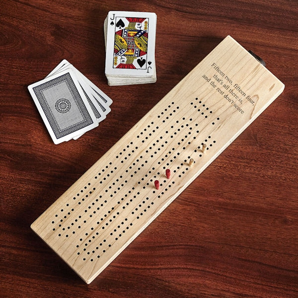 Personalized Cribbage Board - Text (Up to 3 Lines)