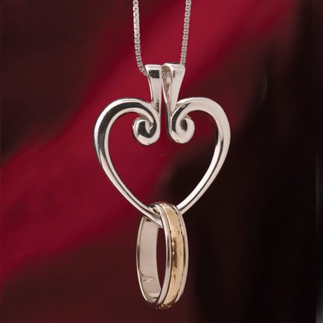 Heart Hinged Pendant