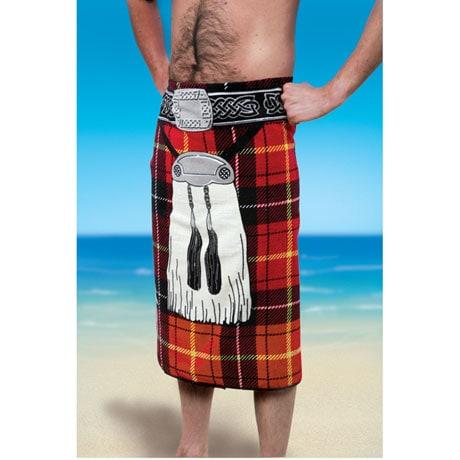 Scottish Kilt Beach Towel