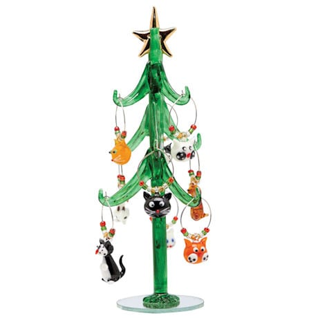 Cat Wine Charm Trees