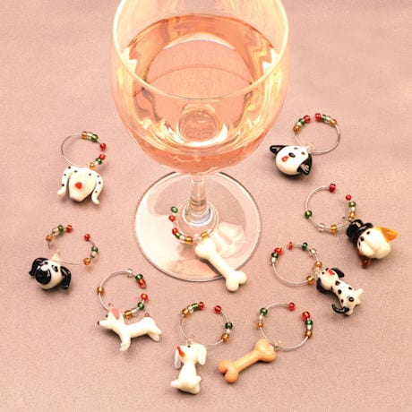 Dog Wine Charm Trees