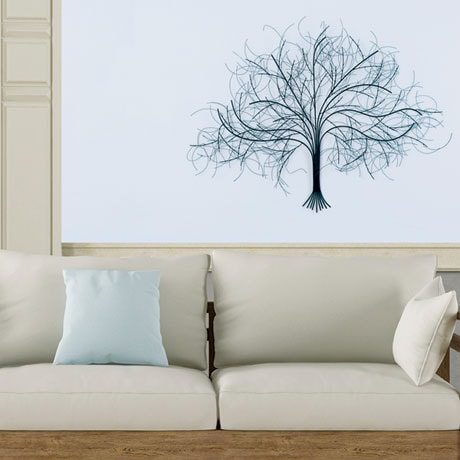 Black Tree Metal Wall Art