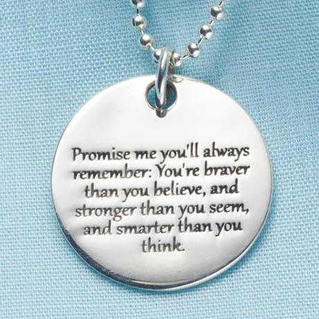 Promise Me Pendant - with Engraving