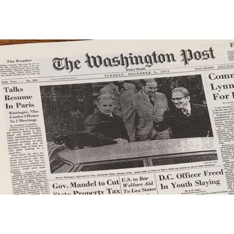 Personalized Newspaper from the Day You Were Born - Washington Post Birthday Book