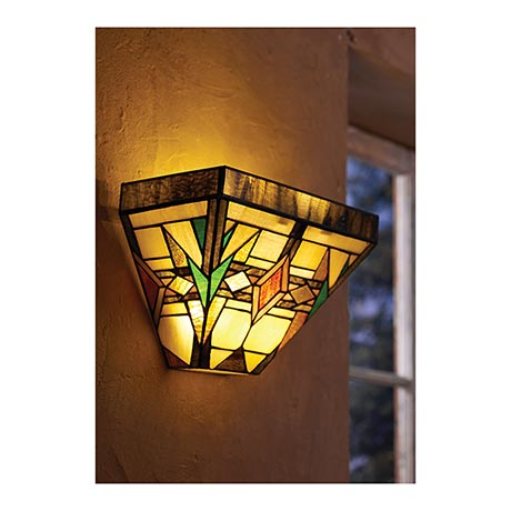 Wireless Wall Sconce - Mission Style