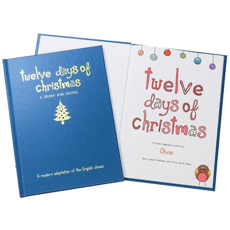 PERSONALIZED English Nursery Rhymes Book - 12 Days of Christmas