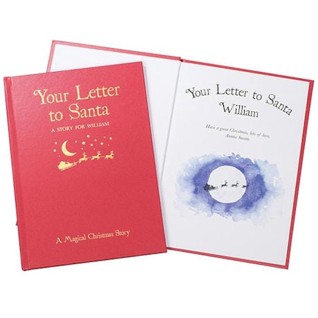 PERSONALIZED English Nursery Rhymes Book - Letter of Santa