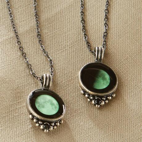Custom Glow in Dark Moon Necklace