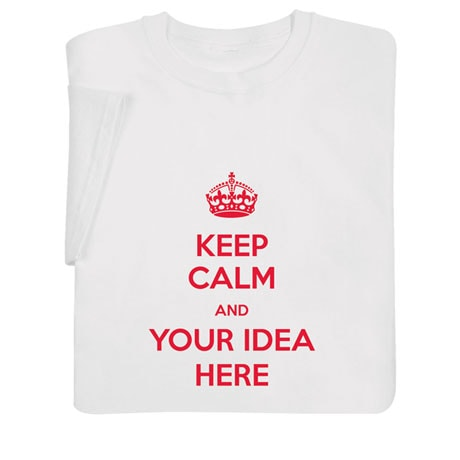 "Personalized ""Keep Calm"" Shirts"