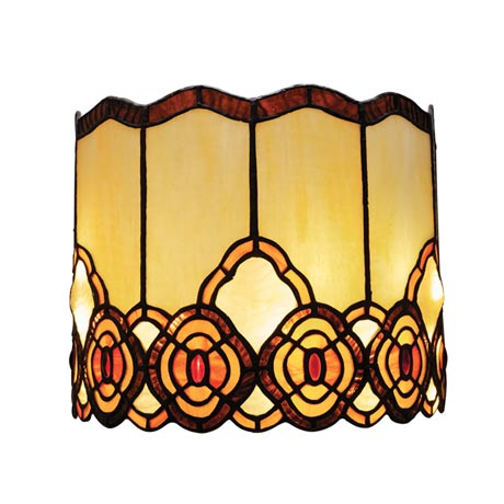 Battery Operated Wall Sconce in Tiffany Style - Art Glass Touch of Elegance