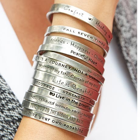 Notes to Self Inspirational Cuff Bracelets