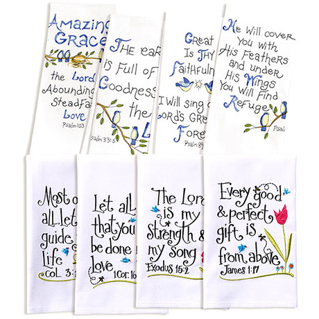 Psalms Hand Towels and Verses Hand Towels Gift Set