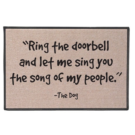 The Song of My People Doormat