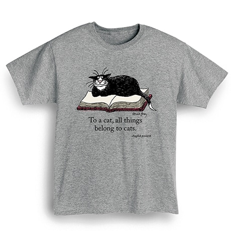 "Edward Gorey - ""To A Cat"" Shirts"