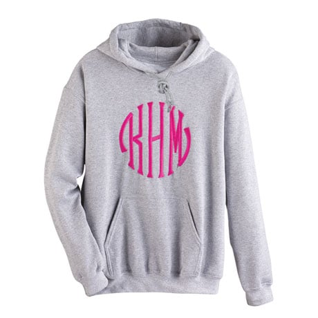 Monogrammed Hooded Sweatshirt