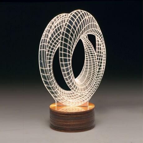 3D Illusion USB Light Sculpture - Infinity Loop