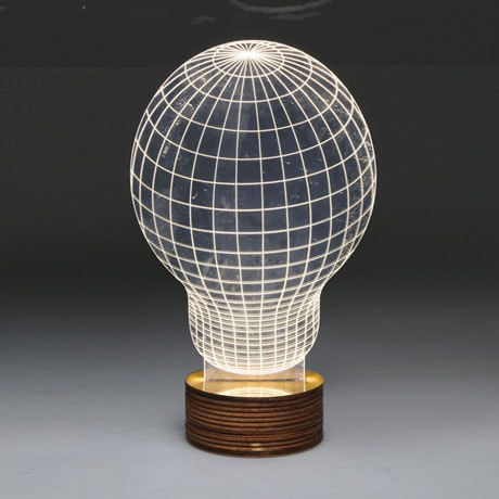 3D Illusion USB Light Sculpture - Light Bulb