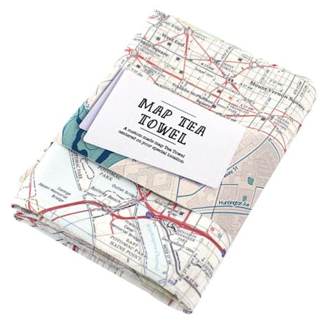 Map Tea Towels