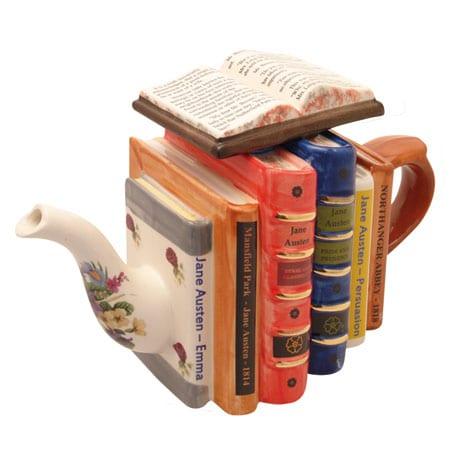 Jane Austen Novels Teapot