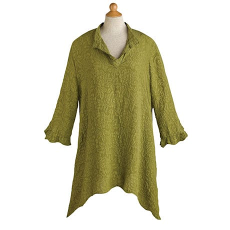 Textured Silk Artist's Tunic
