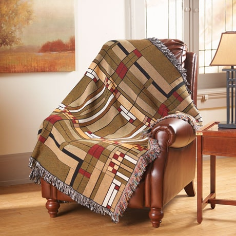 Frank Lloyd Wright® Oak Park Skylight Throw
