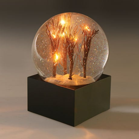 Lighted Trees Snow Globe