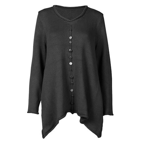 Button Accent Tunic Sweater
