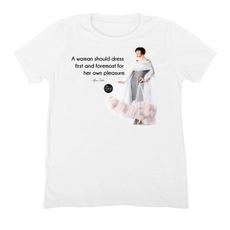 Miss Fisher's Mysteries - A Woman Should Dress for Her Own Pleasure Ladies T-Shirt