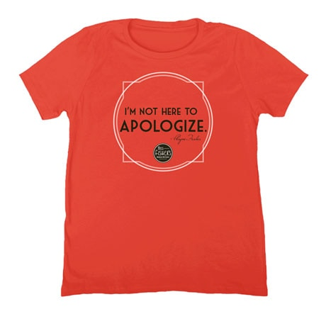 Miss Fisher's Mysteries - I'm Not Here to Apologize Ladies T-Shirt