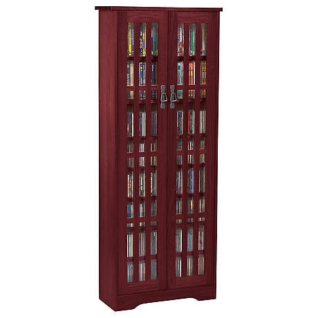 Mission Style Media Storage Cabinet: 2-Door