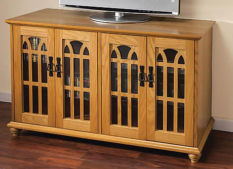 Mission Style Flat Panel TV Cabinet