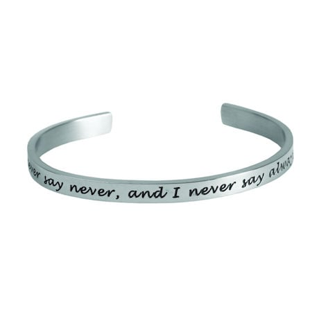 Famous Quotes by Famous Women Cuff Bracelets