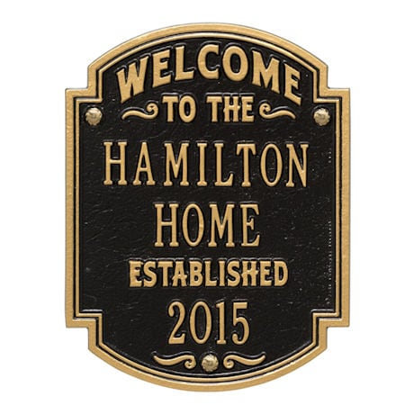 Personalized Heritage Welcome Anniversary Plaque