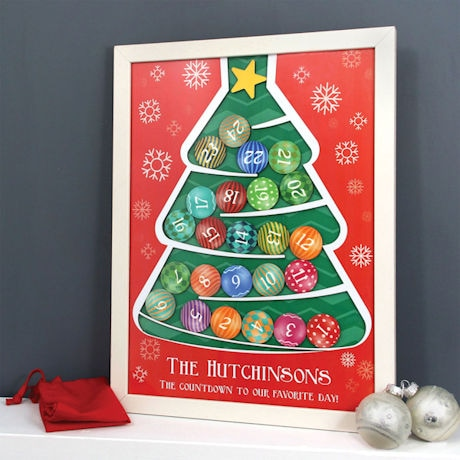 Personalized Wooden Christmas Tree Advent Calendar