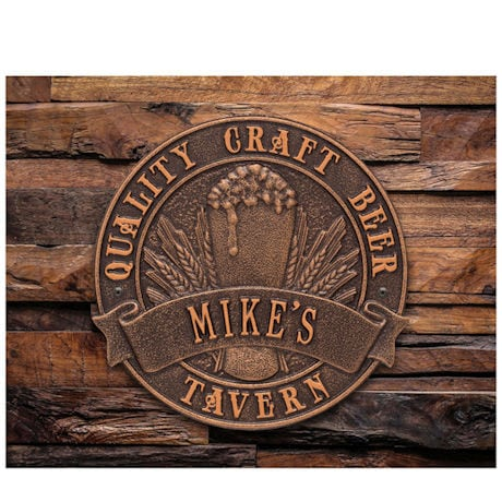 Personalized Craft Beer Tavern Sign