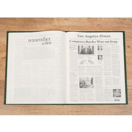 Personalized Commemorative Birthday Newspaper
