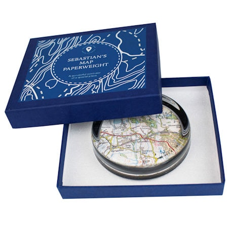 Personalized Map Paperweight - Centered on your address