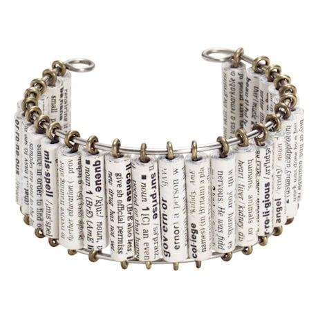 Dictionary Cuff Bracelet