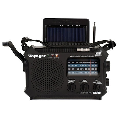 Solar-Powered Emergency Radio: Black